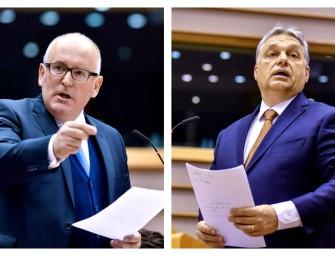 Felhívtam Frans Timmermans, az Európai Bizottság első alelnöke és jogállamiságért is felelős biztos figyelmét a magyarországi helyzet komolyságára