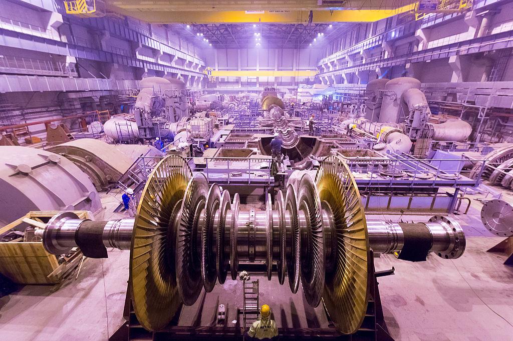 Turbina a Paks II.-vel azonos technológiájú Leningradszkaja 2 atomerőműben (forrás: http://museum.power-m.ru)